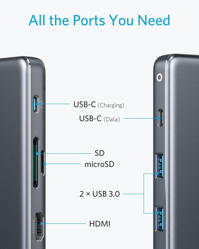هاب Anker 7in1 USB-C Adapter