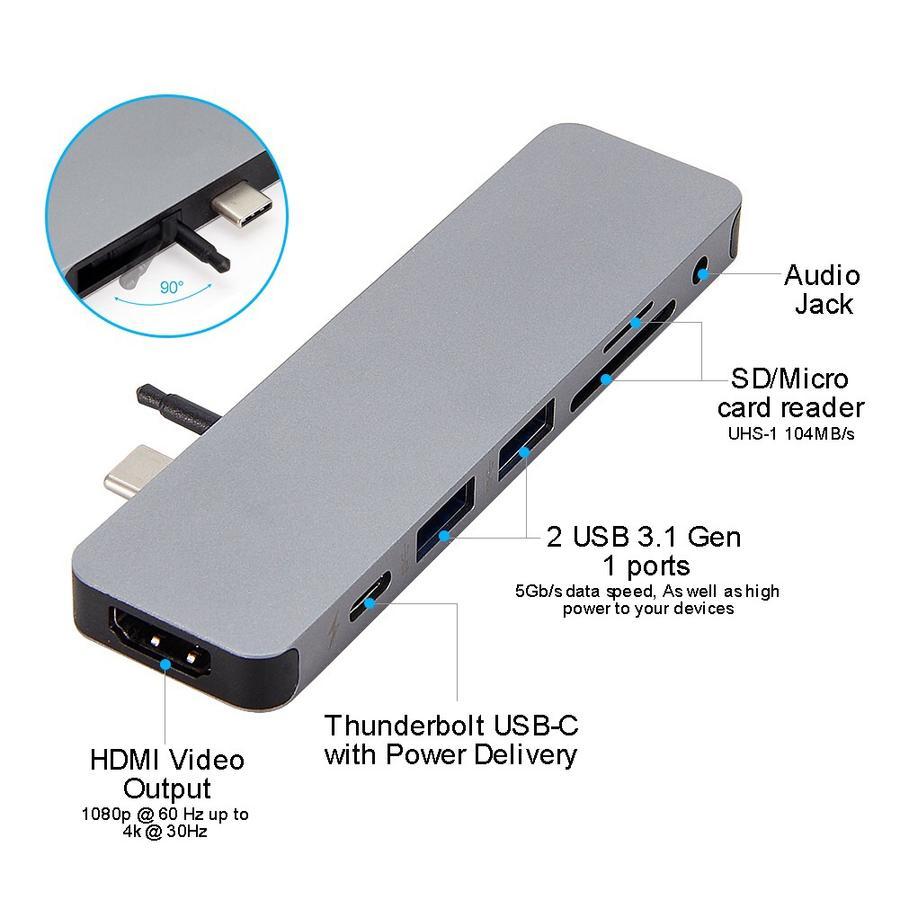 هاب Hyper Drive SOLO 7in1 USB-C HUB
